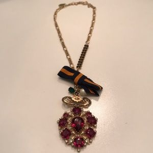 Juicy Couture Pink Stone Pendant Necklace